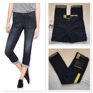 DKNY Soho Skinny Rolled Crop Jeans
